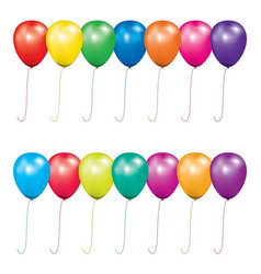 set air balloons for birthday or party vector image