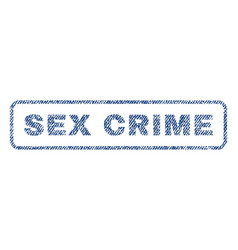 Sex crime textile stamp vector