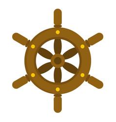 Ship wheel icon isolated vector