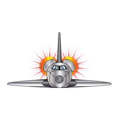 Speeding space shuttle vector