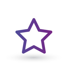 star line icon favorite outline logo linear vector image
