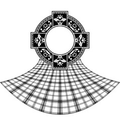 stencil scottish celtic ring vector image