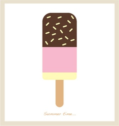 Summer ice cream bar vector