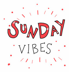 Sunday vibes word vector