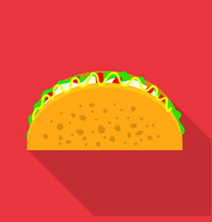 Tacos icon flat style vector