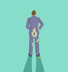 Tax evasion concept vector
