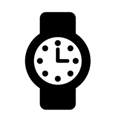 Time clock watch flat icon vector