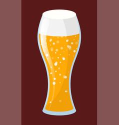 Tipple beverage beer or ale in glassware vector