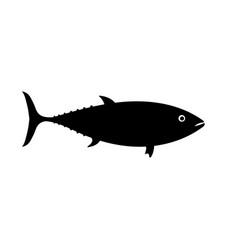 Tuna icon for restaurant menu a vector