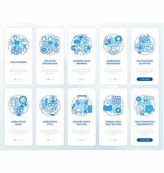 Workplace mentorship onboarding mobile app vector
