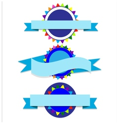 Banner blue party vector image vector image