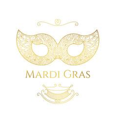 mardi gras greeting card vector image vector image