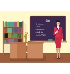 School Law female teacher in audience class vector image vector image