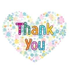 thank you card design vector image vector image
