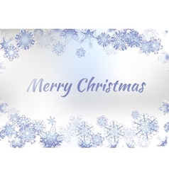 Vintage Christmas Greeting Card With Typography On vector image vector image