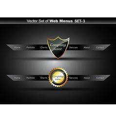 web navigation vector image
