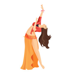 belly dancer girl isolated on white professional vector image vector image