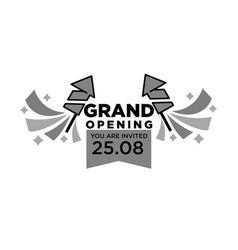 invitation to grand opening ceremony monochrome vector image