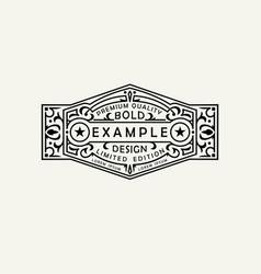 modern emblem badge label monogram template vector image