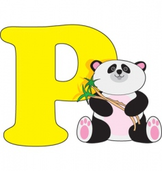 P is for panda vector image