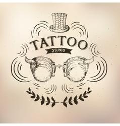 Tattoo steampunk studio vector image