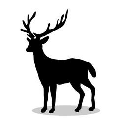deer woodland black silhouette animal vector image vector image