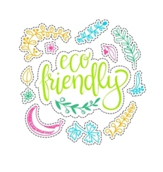 eco friendly concept - design element made vector image