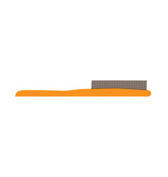 hairbrush hair comb brush icon style isolated vector image