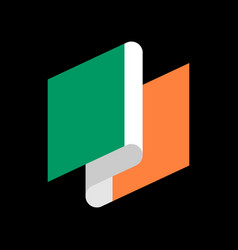 ireland flag ribbon isolated irish tape banner vector image