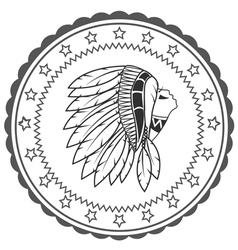 Native American artwork and vintage pictures vector image