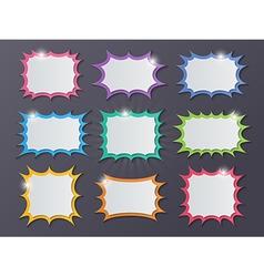 Paper starburst speech bubbles vector