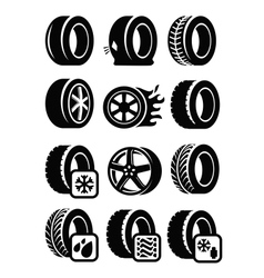 tyre icons vector image