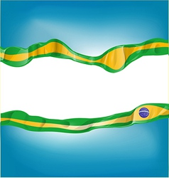background with brazil flag vector image vector image