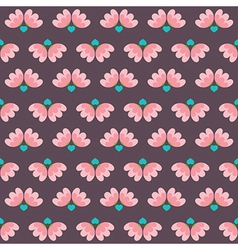 Flowers And Heart Pattern vector image