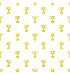 Gold cup pattern cartoon style vector image vector image