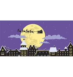Night Santas Sleigh vector image