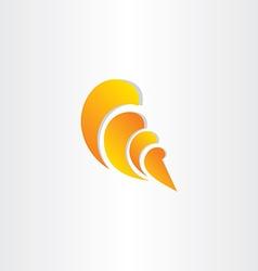 sea shell stylized symbol vector image