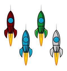 Space rocket set vector image