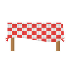 table blanket picnic eating vector image vector image