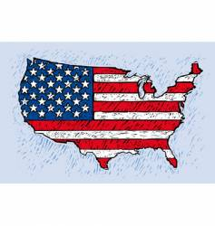 USA engrave style vector image vector image