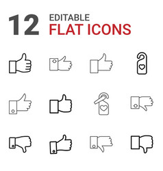 12 like icons vector