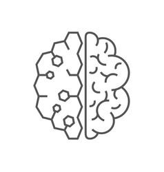 Ai artificial intelligence icon eps 10 editable vector