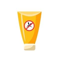 Anti Mosquito Cream In Plastic Tube Simplified vector image