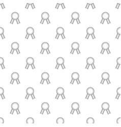 Award ribbon pattern seamless vector