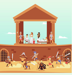 Banner with traditional historical scene vector