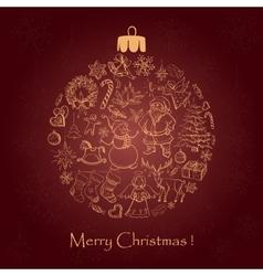 beautiful christmas ball for merry christmas vector image