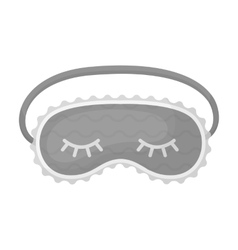 Blindfolds icon in monochrome style isolated on vector