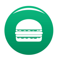 burger icon green vector image