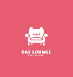 cat lounge logo vector image