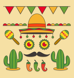 cinco de mayo elements vector image
